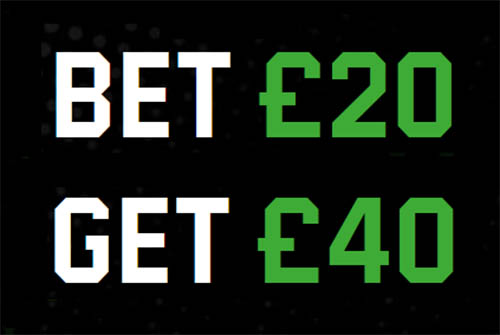 UniBet Bet £20 Get £40 Offer